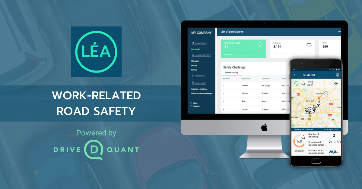 DriveQuant launches LÉA, a mobile application dedicated to improving work-related road safety