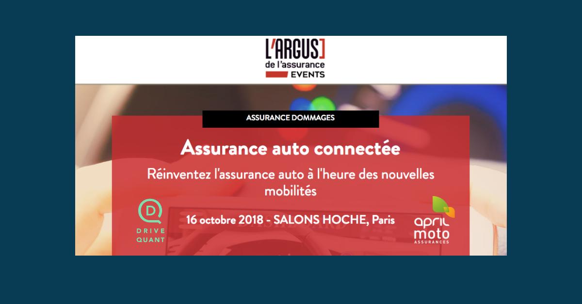 DriveQuant interviendra aux côtés d'APRIL MOTO lors de l'événement « Assurance auto connectée» de L'Argus de l'assurance
