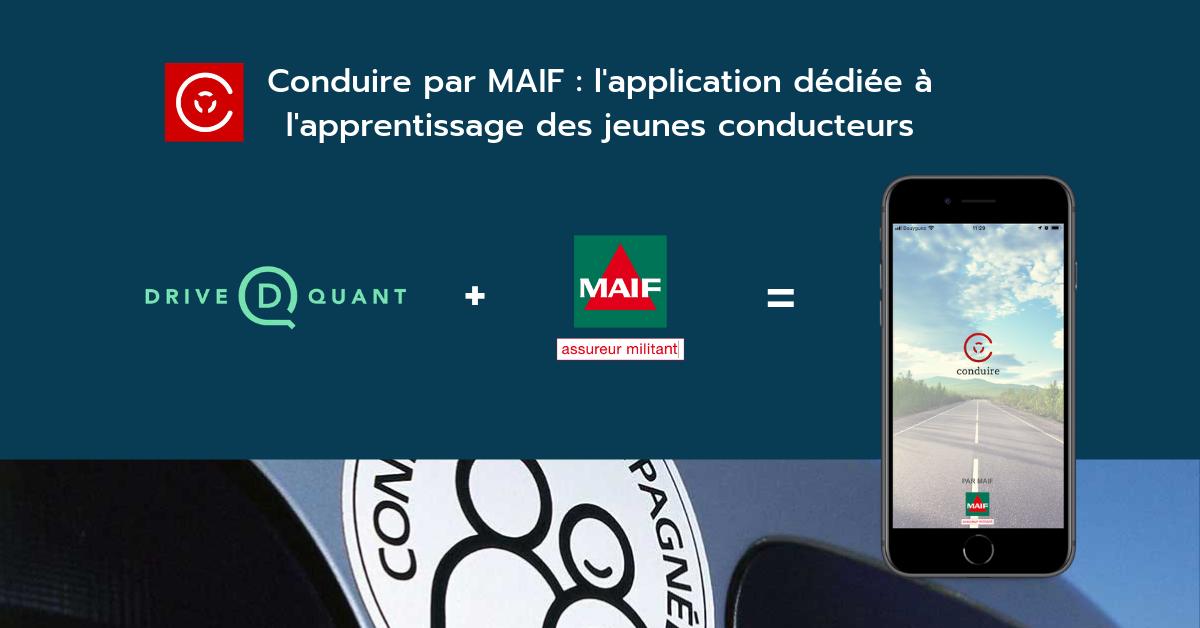 La technologie DriveQuant embarquée par 'Conduire par MAIF' - application mobile dédiée à l'apprentissage et la sécurité des jeunes conducteurs