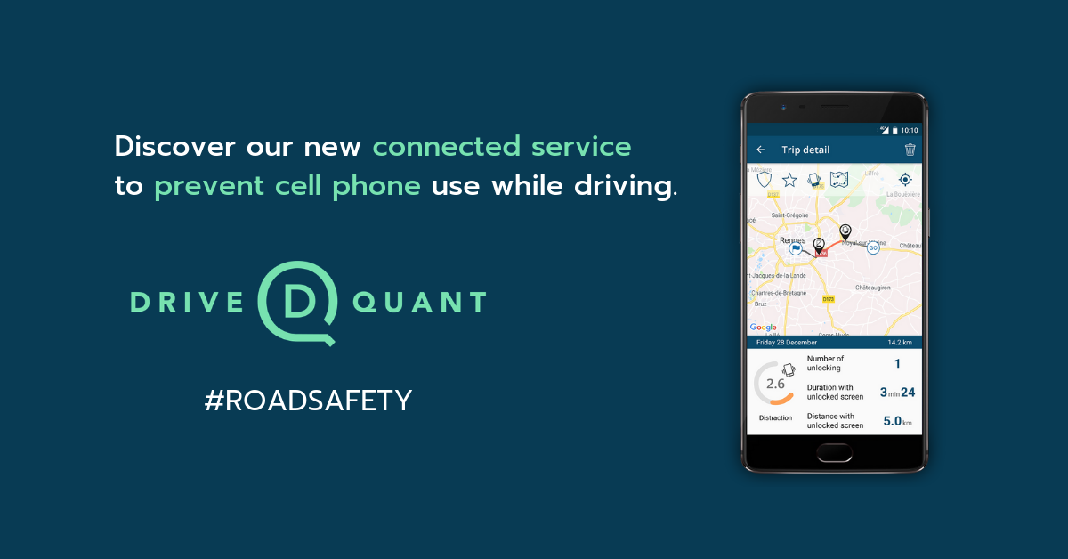 Road safety: DriveQuant launches a connected service to fight distracted driving