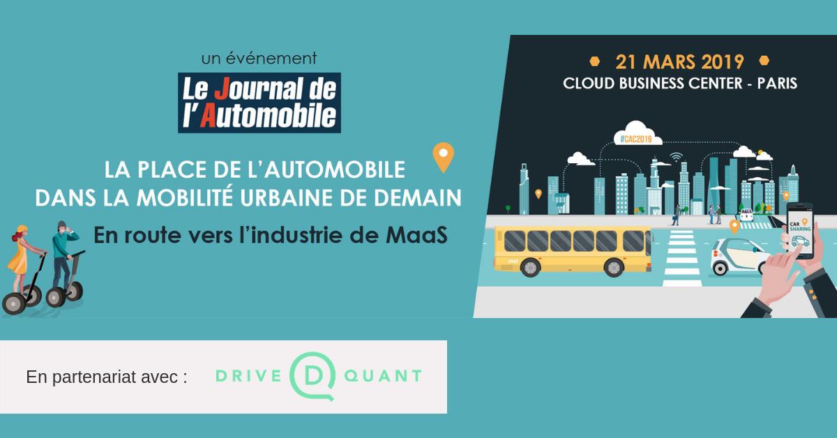 DriveQuant est partenaire de la Conférence Automobile Connectée 2019 (CAC)