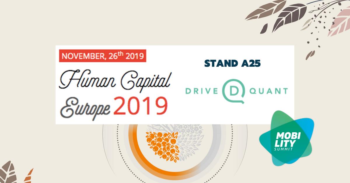DriveQuant sera sponsor du Mobility Summit lors de la conférence Human Capital Europe 2019 (Luxembourg)