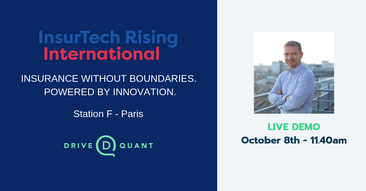 DriveQuant will showcase a live demo at InsurTech Rising International