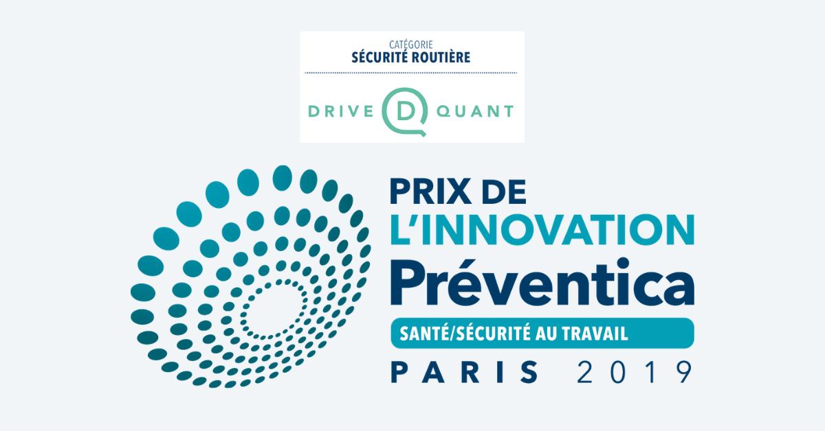 DriveQuant remporte de Prix de l'Innovation au congrès Préventica Paris 2019