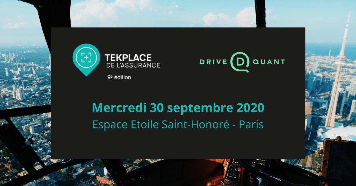 Retrouvez-nous au TEKPLACE DE L'ASSURANCE 2020 à Paris