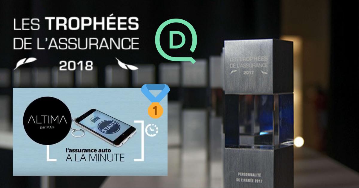 Trophées de l'assurance : l'assurance auto à la minute signée Altima et DriveQuant remporte deux prix !